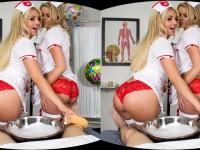 Slutty Nurses - Fuck These Hot 2 Nurses Taking Care of You WANKZVR Jessa Rhodes Madelyn Monroe VR porn video vrporn.com