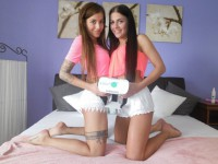 Dellai Twins - Horny Czech Lesbian Girls Czechvr vr porn video vrporn.com virtual reality
