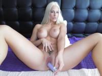Blanche Bradburr - Solo Czech Blonde with a Pink Dildo Czechvr vr porn video vrporn.com virtual reality