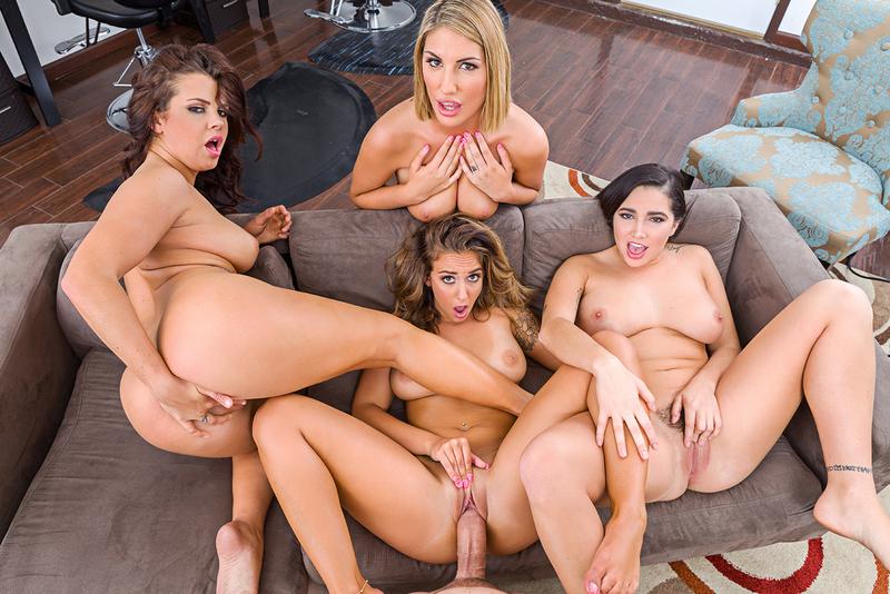 image The naughty gangbang sisters like to party