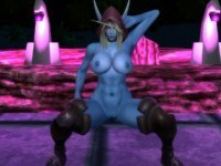 World Of Windrunner - WOW Night Elf Female VR Porn OPT CGIGirl vr porn game vrporn.com