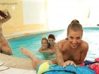 """Sauna """"Russian Style"""" Part 1 - VR Orgy with 5 Babes vrbangers vrporn.com"""