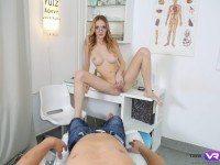 Hottie, M.D - Busty Blonde Doctor Hot Masturbation Porno TmwVRnet Belle Claire VR Porn video vrporn.com