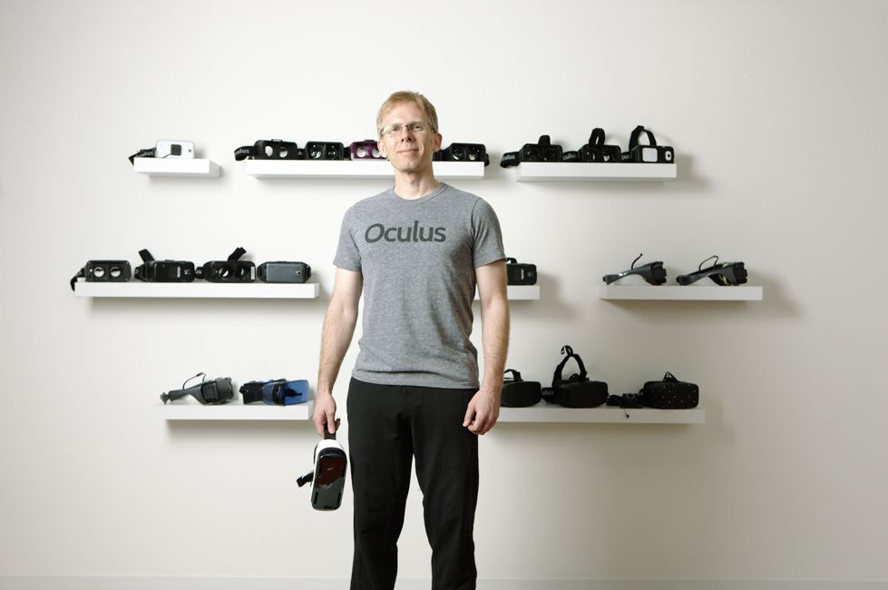 John Carmack with VR Headsets (image credit: Fortune.com)
