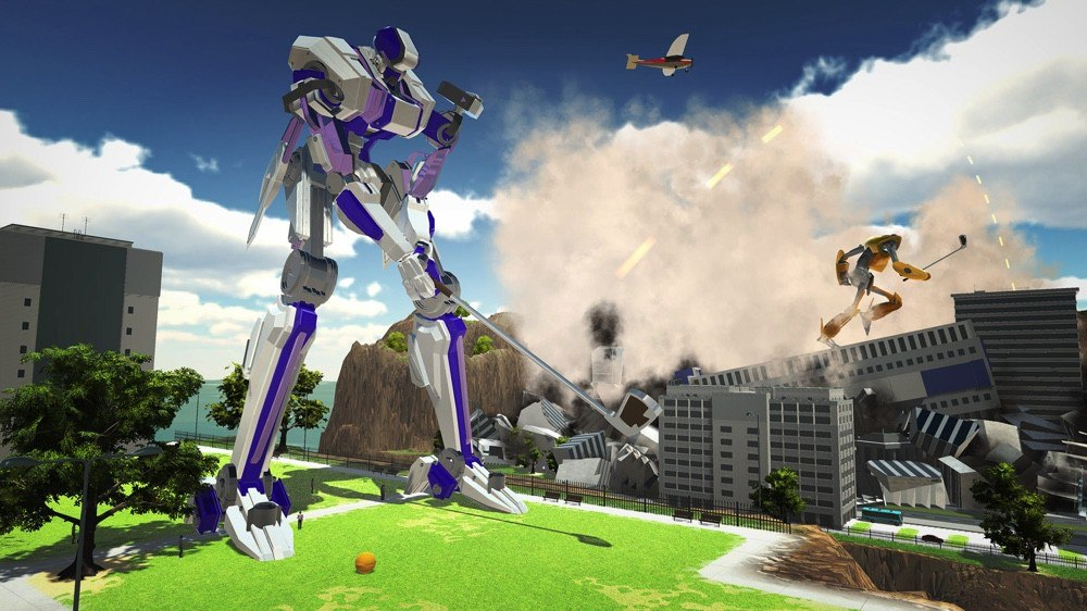 100 foot robot golf coming to playstation vr 1