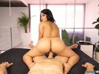 Latina Ass Shake - Curvy Girl Bounces For Your Dick BadoinkVR Kesha Ortega vr porn video vrporn.com