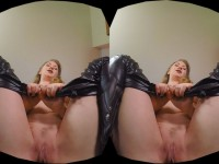 The Upskirt Collection - Mistress T Facesitting in Tight Leather Pants HologirlsVR VR porn video vrporn.com