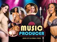 Music Producer - Threesome with Hot Black Chick WANKZVR Anya Ivy Jenna J Ross VR porn video vrporn.com