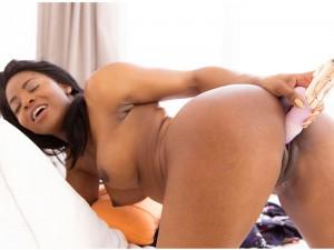 Ebony Webcam - Solo Black Girl Playing in Shower VirtualRealPorn Jasmine Webb VR porn video vrporn.com
