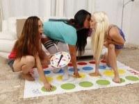 Sorority Game Night - Cum Exploding VR Lesbian Threesome VR3000 Lexy Anya VR porn video vrporn.com