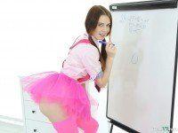VR Schoolgirl Experience - Tight Teen Brunette TmwVRnet Timea Bella VR Porn video vrporn.com