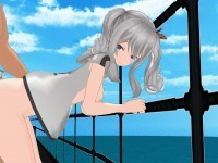 Kashima Fucked on the Deck Lewd FRAGGY HentaiGirl VR porn video vrporn.com