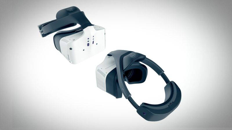 Intel's new untethered Project Alloy VR headset aims at 'Merged Reality', Demoes Multiplayer Gaming at CES yahoo.com vr porn blog virtual reality