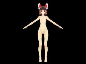 Model - Reimu [Touhou] Lewd FRAGGY Hentaigirl vr porn game vrporn.com virtual reality
