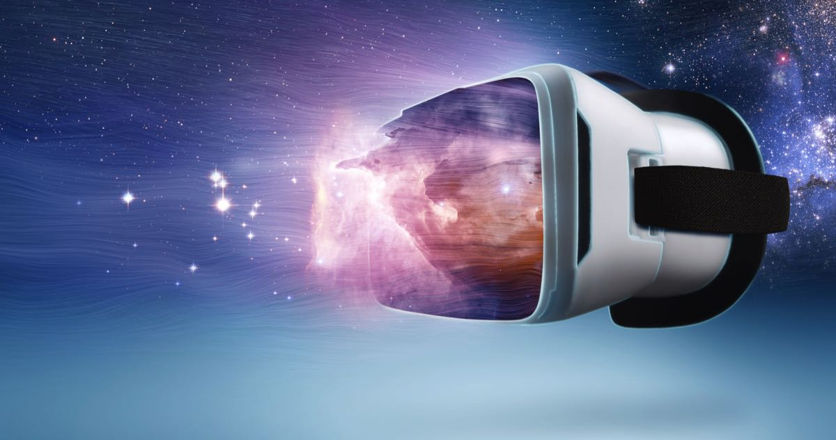 virtual reality space image vr headset