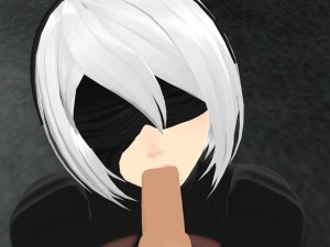 Nier Automata - 2B Sensual BJ Lewd FRAGGY HentaiGirl vr porn video vrporn.com virtual reality