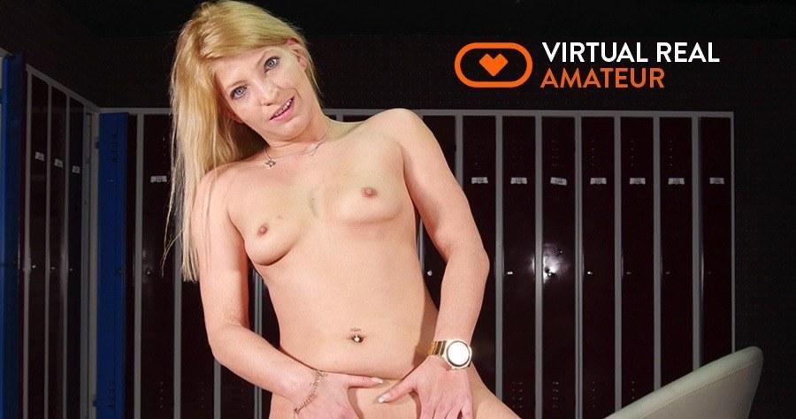 Bella Fucks You In The Locker Room VirtualRealAmateur Bella vr porn video vrporn.com virtual reality