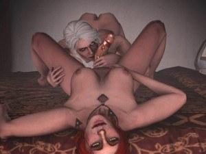 Ciri Gives Triss A Hand DarkDreams cgi girl vr porn video vrporn.com virtual reality