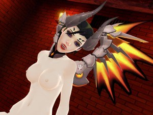 Overwatch - Mercy Rear View Lewd FRAGGY HentaiGirl vr porn game vrporn.com virtual reality