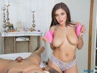 The Rub Down BaDoinkVR Cassidy Banks vr porn video vrporn.com virtual reality