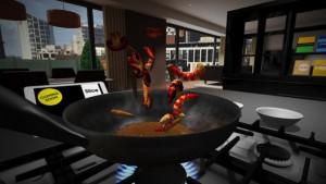 Amazing bouncing VR shrimp