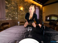 At Your Service - Blonde Waitress in Stockings Aina Smith BadoinkVR vr porn video vrporn.com
