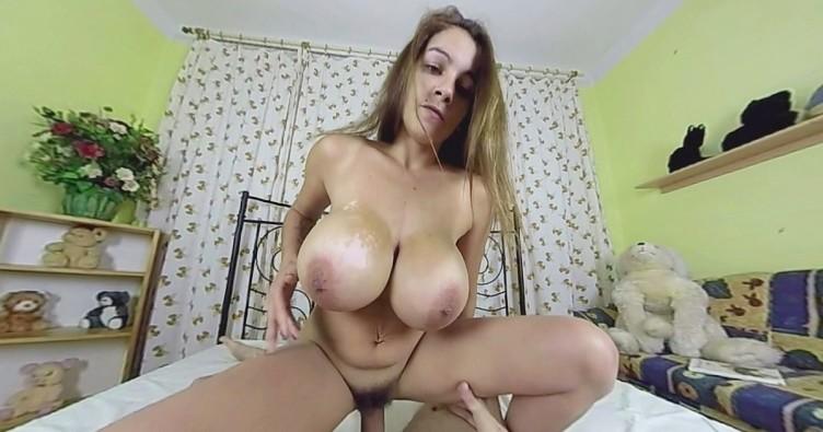 huge tits sucking dick